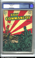 Golden Age (1938-1955):War, Boy Commandos #9 Pennsylvania pedigree (DC, 1944) CGC NM- 9.2Off-white pages. One of the most dramatic of the World War II ...