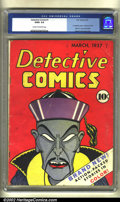 Golden Age (1938-1955):Adventure, Detective Comics #1 (DC, 1937) CGC GD/VG 3.0 Cream to off-white pages. One of the rarest of all the DC key issues, Detecti...