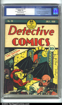 "Detective Comics #29 (DC, 1939) CGC VG/FN 5.0 Off-white to white pages. One of the famous ""pre-Robin"" Detectiv..."