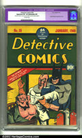 Golden Age (1938-1955):Superhero, Detective Comics #35 (DC, 1940) CGC apparent VF 8.0 Extensive (P) Off-white pages. No one can argue that the Batman covers o...