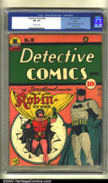 Golden Age (1938-1955):Superhero, Detective Comics #38 Larson pedigree (DC, 1940) CGC FN- 5.5 Off-white pages. One of the most influential books of the Golden...
