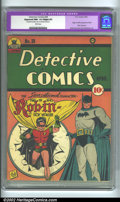 Golden Age (1938-1955):Superhero, Detective Comics #38 (DC, 1940) CGC Apparent NM- 9.2 Slight (P) White pages. Featuring the first appearance of Robin, this i...
