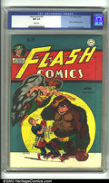 Golden Age (1938-1955):Superhero, Flash Comics #70 (DC, 1946) CGC NM 9.4 White pages. Joe Kubert's classic version of Hawkman graces this unbelievably high-gr...