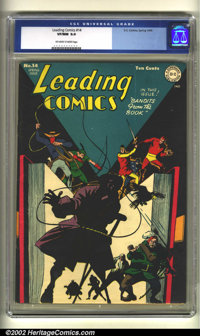 Leading Comics #14 (DC, 1945) CGC VF/NM 9.0 Off-white to white pages. Every now and then, a cover by a relatively unknow...
