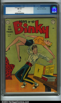 Leave it to Binky #13 Mile High pedigree (DC, 1950) CGC NM 9.4 White pages. Clean and glossy, with a very nice spine and...