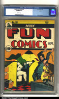 Golden Age (1938-1955):Superhero, More Fun Comics #59 Larson pedigree (DC, 1940) CGC VF/NM 9.0 Off-white pages. The Spectre makes a grand entrance on the cove...