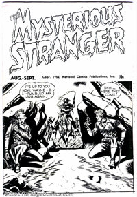 Mysterious Stranger Ashcan #nn (DC, 1952) Condition: FN/VF This is an ashcan used to secure the copyright for Mysterious...