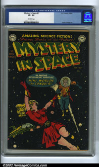 Mystery in Space #1 (DC, 1951) CGC VF- 7.5 Off-white pages. From the compelling cover of outer space action by Carmine I...