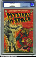 Golden Age (1938-1955):Science Fiction, Mystery in Space #4 Bethlehem pedigree (DC, 1951) CGC NM- 9.2Off-white pages. A classic book by Carmine Infantino and Murph...