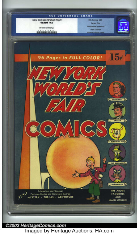 New York World's Fair Comics #nn Carson City pedigree (1939 Edition) (DC, 1939) CGC VF/NM 9.0 Off-white to white pages. This...