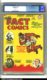 Real Fact Comics #1 Mile High pedigree (DC, 1946) CGC VF/NM 9.0 White pages. Exceptional copy of this premiere issue of...