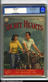 Secret Hearts #1 Mile High pedigree (DC, 1949) CGC NM- 9.2 White pages. According to Overstreet this book ranks eighth a...