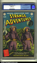 Golden Age (1938-1955):Science Fiction, Strange Adventures #1 (DC, 1950) CGC VF/NM 9.0 Off-white to whitepages. A Destination Moon movie adaptation starts this fan...