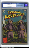 "Golden Age (1938-1955):Science Fiction, Strange Adventures #1 (DC, 1950) CGC VF 8.0 Off-white to whitepages. This key first issue contains an adaptation of ""Destin..."
