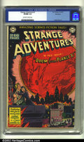 Golden Age (1938-1955):Science Fiction, Strange Adventures #2 Bethlehem pedigree (DC, 1950) CGC VF/NM 9.0Off-white to white pages. This awesome cover features a gi...