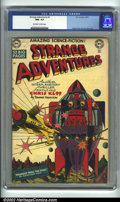 Golden Age (1938-1955):Science Fiction, Strange Adventures #3 (DC, 1950) CGC NM- 9.2 Off-white to whitepages. Here is an extremely high-grade early issue from DC's...