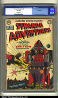 Golden Age (1938-1955):Science Fiction, Strange Adventures #3 Bethlehem pedigree (DC, 1950) CGC VF+ 8.5Off-white pages. Many of the masters of the science-fiction ...