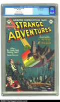 Golden Age (1938-1955):Science Fiction, Strange Adventures #4 White Mountain pedigree (DC, 1951) CGC VF 8.0Off-white to white pages. DCs from the early 1950s are n...