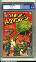 Golden Age (1938-1955):Science Fiction, Strange Adventures #6 Bethlehem pedigree (DC, 1951) CGC FN+ 6.5Off-white to white pages. An absolutely awesome cover of an ...