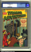 Golden Age (1938-1955):Science Fiction, Strange Adventures #8 Bethlehem pedigree (DC, 1951) CGC VF- 7.5Off-white pages. This is the famous gorilla cover that start...