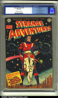 Golden Age (1938-1955):Science Fiction, Strange Adventures #9 Bethlehem pedigree (DC, 1951) CGC VF+ 8.5Off-white to white pages. This dramatic and magnificent cove...