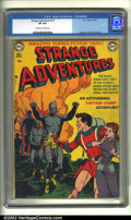 Golden Age (1938-1955):Science Fiction, Strange Adventures #13 (DC, 1951) CGC VF 8.0 Off-white to whitepages. This fantastic cover shows Captain Comet protecting a...