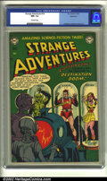 Golden Age (1938-1955):Science Fiction, Strange Adventures #14 Bethlehem pedigree (DC, 1951) CGC NM- 9.2Off-white pages. This out of this world cover features robo...