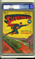 Golden Age (1938-1955):Superhero, Superman #3 Nova Scotia pedigree (DC, 1940) CGC VF 8.0 Cream to off-white pages. Here is an extremely early issue of Super...
