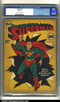 Golden Age (1938-1955):Superhero, Superman #9 (DC, 1941) CGC FN 6.0 Cream to off-white pages. Superman busts out of this classic Fred Ray cover. Sometimes the...