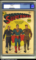 Golden Age (1938-1955):Superhero, Superman #12 (DC, 1941) CGC VF 8.0 Off-white to white pages. A terrific patriotic cover by Fred Ray, over a year before Pear...