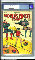 Golden Age (1938-1955):Superhero, World's Finest Comics #18 Mile High pedigree (DC, 1945) CGC NM+ 9.6 White pages. If you really want the best of the best, he...