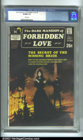 Bronze Age (1970-1979):Romance, Dark Mansion of Forbidden Love #1 (DC, 1971) CGC VF/NM 9.0 Whitepages. Overlooked for decades, DC gothic romance has really...