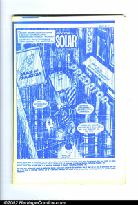 Doctor Solar #32 (Gold Key, 1982). As the unpublished printer's proof blue line copy, this is the only version of this b...