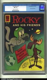 Four Color #1275 (Dell, 1961) CGC NM- 9.2 Cream to off-white pages. Rocky and Bullwinkle land on the moon in this charmi...