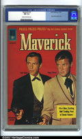Silver Age (1956-1969):Western, Maverick #16 (Dell, 1961) CGC NM 9.4 Cream to off-white pages. Roger Moore and Jack Kelly are featured on the cover of this ...