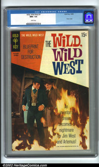 Wild, Wild West #7 (Gold Key, 1969) CGC NM+ 9.6 White pages. Photo covers, with their glossy cover stock, are very diffi...