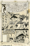 Original Comic Art:Covers, Ron Frenz and Joe Rubenstein - Original Cover Art to AmazingSpider-Man #272 (Marvel, 1986). Make Way For SLYDE! In this act...