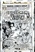 Original Comic Art:Covers, Ed Hannigan and Mike Esposito - Original Cover Art for Marvel Team-Up #42 (Marvel, 1976). Spider-Man covers are as hot as ca...