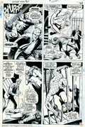 Original Comic Art:Panel Pages, John Romita, Sr. and Jim Mooney - Original Art for AmazingSpider-Man #65, page 19 (Marvel, 1968). After saving thehelpless...