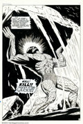 Original Comic Art:Splash Pages, Dan Adkins - Original Art for Tales to Astonish #92, page 5(Marvel, 1967). The massive menace of IT resounds across this pu...