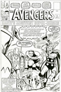 Original Comic Art:Covers, Dick Ayers - Original Cover Art Re-creation of Avengers #1 (1994).Dick Ayers faithfully re-created the cover to this first ...