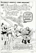 Original Comic Art:Covers, Dick Ayers - Original Cover Art Re-creation for Fantastic Four #4(1994). This excellent re-creation of this classic key cov...