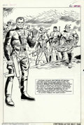 Original Comic Art:Splash Pages, Dick Ayers and John Tartaglione - Original Art for Sergeant FuryAnnual #3, page 60 (Marvel 1967). Here is a fantastic, twic...