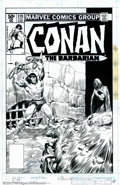 Original Comic Art:Covers, John Buscema - Original Cover Art for Conan the Barbarian #119 (Marvel, 1981). John Buscema is the name most recognized as t...