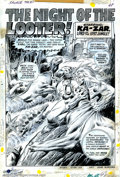 Original Comic Art:Complete Story, John Buscema - Original Art for Savage Tales #1, Complete 15 pagestory. (Marvel, 1971). Ka-Zar is featured in this incredib...
