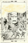 Original Comic Art:Covers, Sal Buscema - Original Cover Art for Iron Man #34 (Marvel, 1971).Iron Man is captured here in several incredible images. Th...