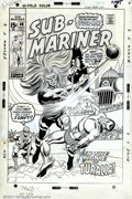 Original Comic Art:Covers, Sal Buscema - Original Cover Art for Sub-Mariner #40 (Marvel,1971). This is a fantastic cover by one of Marvel's most proli...