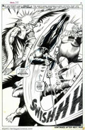 Original Comic Art:Splash Pages, Gene Colan and George Tuska - Original Art for Daredevil #39, page3 (Marvel, 1967). Another spectacular splash from Gene Co...