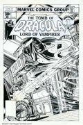 Original Comic Art:Covers, Gene Colan and Tom Palmer - Original Cover Art for Tomb of Dracula#57 (Marvel, 1977). Beautiful Bronze Age cover. This piec...