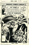 Original Comic Art:Covers, Gene Colan and Tom Palmer - Original Cover Art for Tomb of Dracula#58 (Marvel, 1977). This is one of the better Dracula cov...